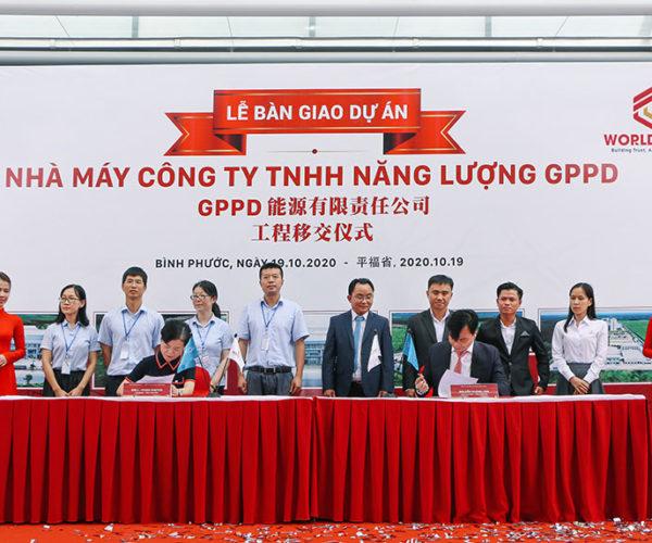 WorldSteel và GPPD tiến hành ký kết bàn giao dưới sự chứng kiến của đại diện 2 bên công ty